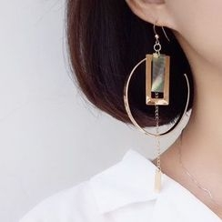 Calypso - 波浪圈環單隻耳環
