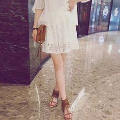 MOODGIRL - Lace Inset Shorts