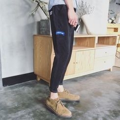 Soulcity - Patch Embroidered Tapered Pants