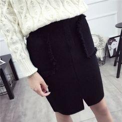 Loytio - Dual Pocket Knit Skirt