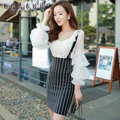 Dabuwawa - Stripe Jumper Skirt