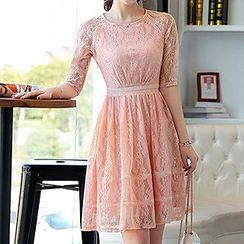 Romantica - Elbow-Sleeve Lace Dress