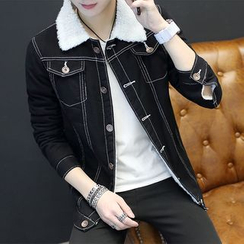 Kunji - Fleece-Lined Buttoned Jacket