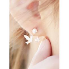kitsch island - Dove Rhinestone Earrings