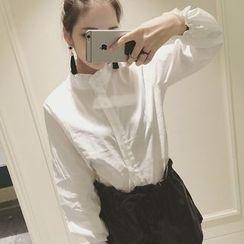 Velero - 纯色皱褶领衬衫