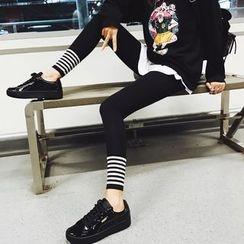 Colorful Shop - Contrast Stripe Leggings