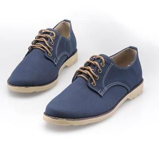 BESTshop - Lace-Up Canvas Oxfords