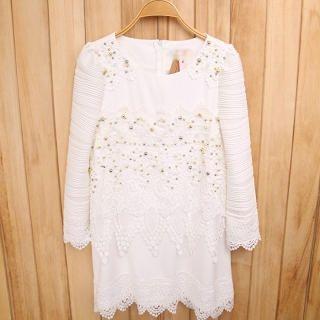 Ando Store - Beaded Lace Shift Dress