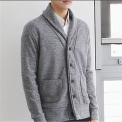 MITOSHOP - Shawl-Collar Colored Cardigan