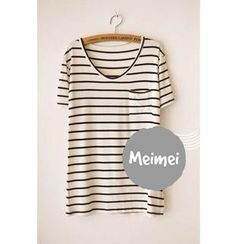 Meimei - Short-Sleeve Striped T-Shirt