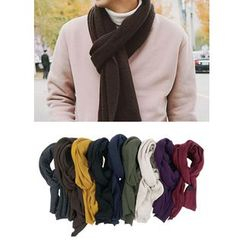 JOGUNSHOP - Colored Ribbed Wool Scarf