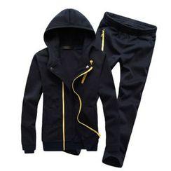 Fisen - Set: Zip Detail Hoodie + Sweatpants