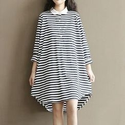 Apsara - 孕婦條紋T恤裙