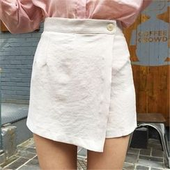 QNIGIRLS - Wrap-Front Mini Skirt