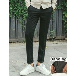 STYLEMAN - Elastic-Waist Dress Pants