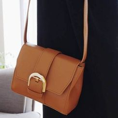 Clair Fashion - Faux-Leather Shoulder Bag