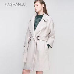KASHAN - Wool Blend Tie-Waist Coat