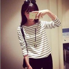 Dora - Striped Long-Sleeve T-Shirt