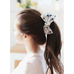kitsch island - Floral Print Bow Hair Clamp