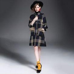 Alaroo - 格子羊毛混紡大衣