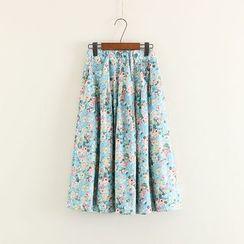 Mushi - Floral Print Skirt
