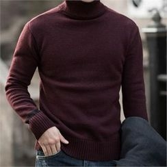 STYLEMAN - Wool-Blend Turtle-Neck Sweater