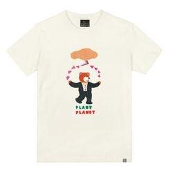 the shirts - Bear in Tuxedo Print T-Shirt