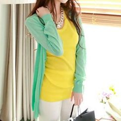 Coralie - Open-Front Knit Cardigan