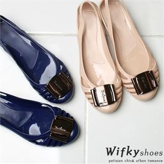 Wifky - Cut-Out Accent Jelly Flats