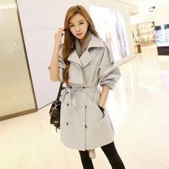 Koo - Double Breasted Cotton Trench Coat