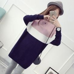 TIMI - Color Panel Long Sweater