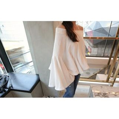 Dream Girl - Bell-Sleeve Off-Shoulder Top