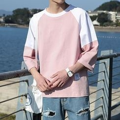 Troopers - 3/4-Sleeve Contrast-Color T-Shirt