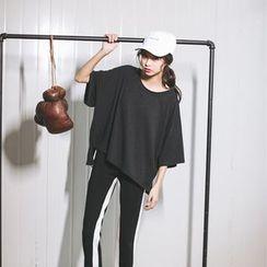 Porta - Plain Drop-shoulder T-shirt