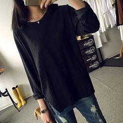 Girl Next Door - Plain Long-Sleeve T-shirt