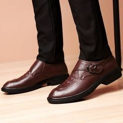 MARTUCCI - Genuine-Leather Croc Grain Loafers