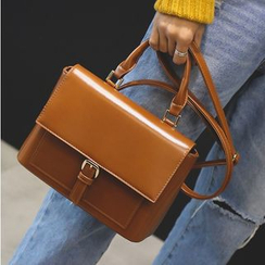 Aishang - Faux Leather Satchel