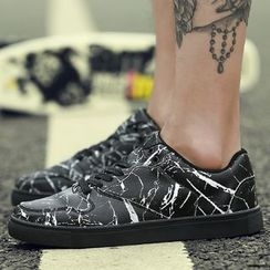 Komm - Splattered Sneakers