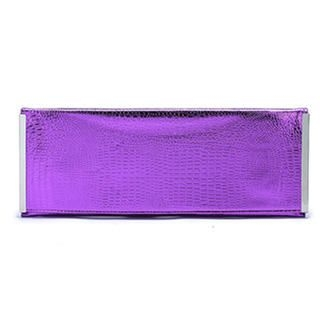 MBaoBao - Croc-Grain Clutch