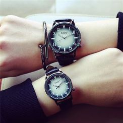 Tacka Watches - Couple Matching Leather Strap Watch