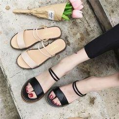 Hipsole - Strap Flat Slide Sandals