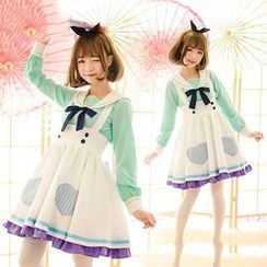 StaRainbow - Sailor Collar Top / Jumper Skirt