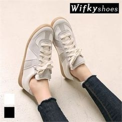 Wifky - Faux-Suede Trim Sneakers