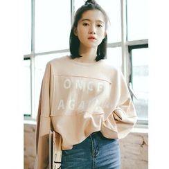 AiAi Bear - Letter Drop-shoulder Sweatshirt