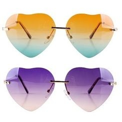 UnaHome Glasses - Frameless Heart Lens Sunglasses
