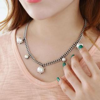 soo n soo - Beads-Charm Chain Necklace