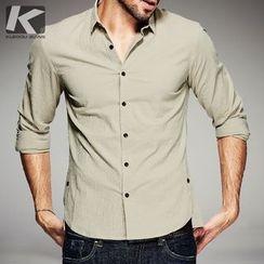 Quincy King - Plain Long-Sleeve Shirt