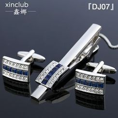 Xin Club - Set: Neck Tie Clip + Cuff Link