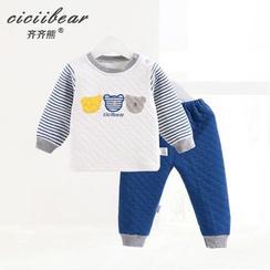 ciciibear - Baby Set: Print Pullover + Pants