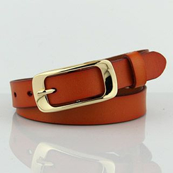 Follow Me - Genuine Leather Slim Belt